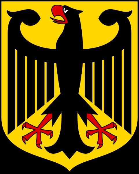 Státní znak Německa, jeden ze symbolů státnosti a soudního překladu z/do němčiny. Expresní kontakt na soudního tlumočníka němčiny v Praze zde: 608 666 582